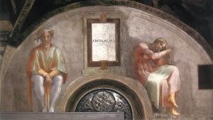 Michelangelo, Sistine Chapel, Ceiling, Lunette - Aminadab