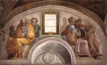 Michelangelo, Sistine Chapel, Ceiling, Lunette - Jacob, Joseph