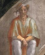 Michelangelo, Aminadab, detail