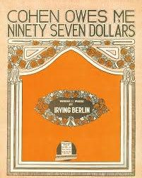 """Cohen Owes Me Ninety-Seven Dollars,"" sheet music cover; song by Irving Berlin"