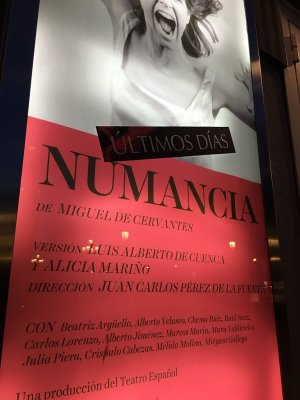 Numancia, Teatro Español, Madrid, April 2016 - poster; ultimas dias