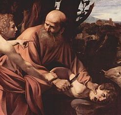 Michelangelo Merisi da Caravaggio, Sacrificio di Isacco (The Sacrifice of Isaac), 1603. In the collection of the Uffizi Gallery, Florence.