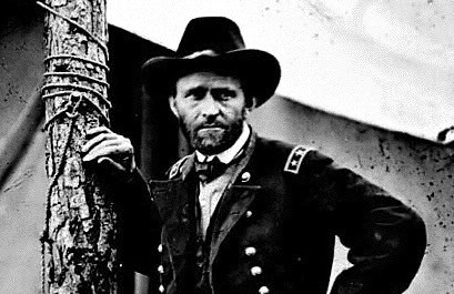 Ulysses S. Grant, detail from famous picture of Grant at Cold Harbor, 1864