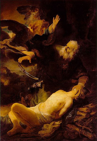 Rembrandt, Abraham en Isaac, 1634; Hermitage Museum, St. Petersburg [scene from Genesis]