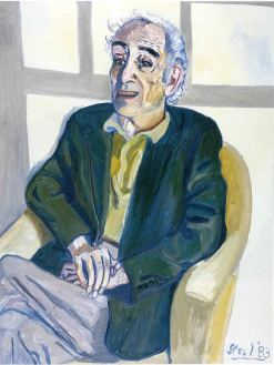Portrait of Meyer Schapiro by Alice Neel, 1983 - in collection of the Jewish Museum, New York