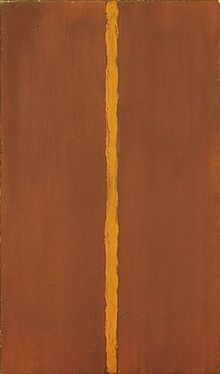 Barnett Newman, Onement 1, 1948, in the collection of the Museum of Modern Art, New York.