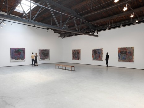 "Philip Guston, ""Painter, 1957 – 1967,"" Installation view, Hauser & Wirth, New York, photo by Genevieve Hanson"