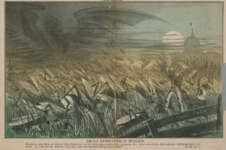 "Thomas Nast, ""Uncle Sam's Farm in Danger"" The San Francisco Wasp by George F. Keller. 9 March, 1878"
