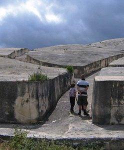 view of Alberto Burri's Cretto di Gibellina, Sicily