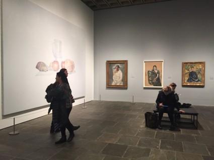 Installation view of Met Breuer Unfinished show, Hyperallergic