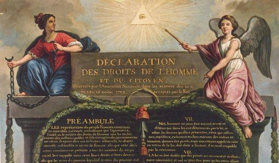 Detail from Déclaration des Droits de l'Homme et du citoyen, Le Barbier, 1789, huile sur toile, 71 x 56 cm, Paris, musée Carnavalet