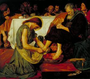 Jesus Washing Peter's Feet 1852-6 Ford Madox Brown 1821-1893 Presented by subscribers 1893 http://www.tate.org.uk/art/work/N01394