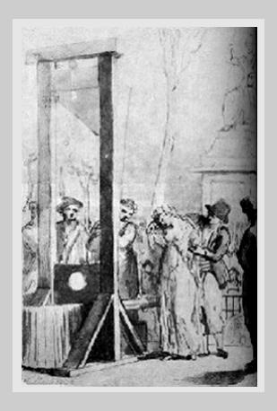 Exécution d'Olympe de Gouges, 1793