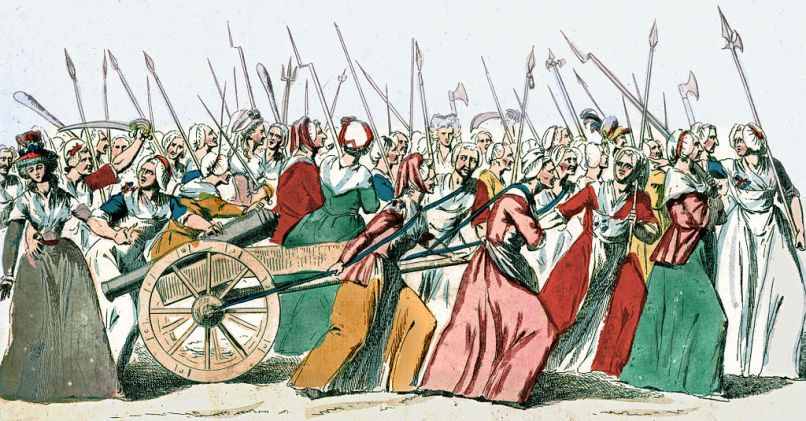 illustration of the Women's March on Versailles, 5 October 1789