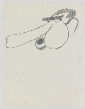 Philip Guston, Untitled, 1971. Ink on paper; 27.9 x 21.3 cm = 11 x 8 3/8 in. Private Collection. © The Estate of Philip Guston, Courtesy Hauser & Wirth [GUSTO77522]