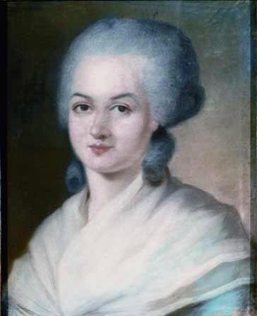 Portrait of Marie-Olympe de Gouges, painted by Alexander Kucharsky (1741-1819), private collection