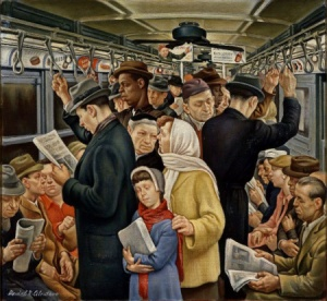 Daniel Celentano, Subway, 1935, collection of Wolfsonian–Florida International University, Miami Beach