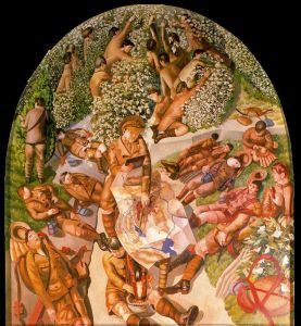 Stanley Spencer, Map reading, 1926-1932, map concernis the Macedonia campaign in World War I