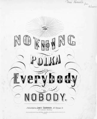 Sheet music cover - Know Nothing Polka, from HarpWeek collection of American political prints, 1766-1876