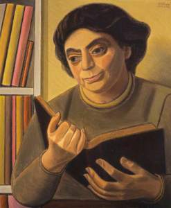 William Patrick Roberts, 1895-1980; A Reading of Poetry (Woman Reading), National Galleries Scotland