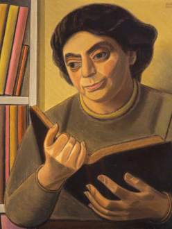 William Patrick Roberts, 1895-1980; A Reading of Poetry (Woman Reading)