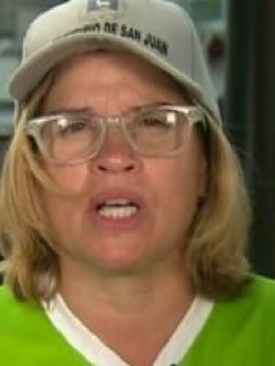 San Juan, Puerto Rico, Mayor Carmen Yulín Cruz, from CNN video clip, 29 September 2017