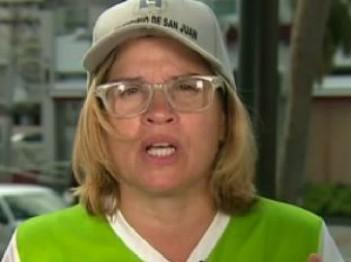 San Juan, Puerto Rico, Mayor Carmen Yulín Cruz, from CNN video clip, 29 September 2017