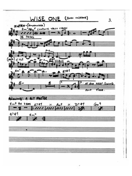 "John Coltrane, ""Wise One"" score"