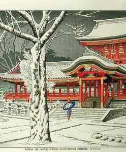 Asano_Takeji-No_Series-Snow_at_Iwashimizu_Hachiman_Shrine_Kyoto