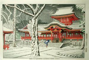 Asano_Takeji-No_Series-Snow_at_Iwashimizu_Hachiman_Shrine_Kyoto