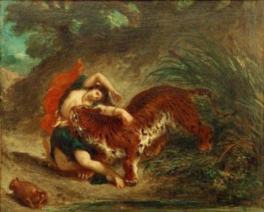 Delacroix, Indienne mordue par un tigre