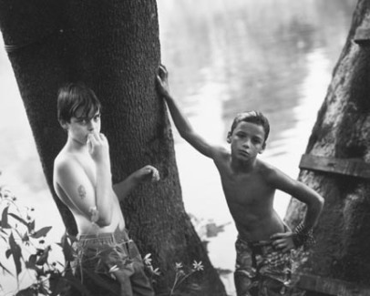 Sally Mann, Emmett and the White Boy, gelatin silver prnt, 1990