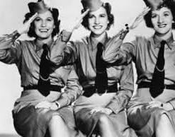 The Andrews Sisters in uniform