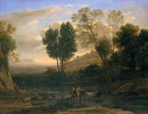 Amanecer (sunrise), possibly 1646–47, by Claude Lorrain (MET)