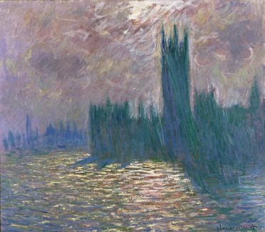 Claude Monet, Londres, Le Parlement, Reflets sur la Tamise, 1905, Musée Marmottan Monet, Paris