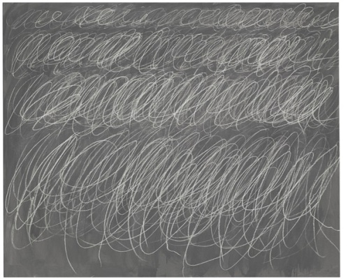 Cy Twombly, untitled, 1970 [blackboard painting]